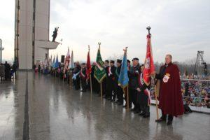 Delegacja Konfederacji ze sztandarem