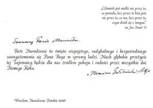 Jego Ekscelencja Ks Arcybiskup Marian Gołębiewski