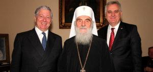 JKW Książę Aleksander, Jego Świątobliwość Patriarcha Irinej, JE Tomislav Nicolic Prezydent Serbii