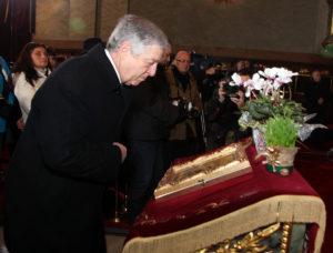 JKW Książę Aleksander podczas liturgii Mszy Świętej